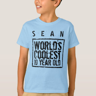 10th Birthday Gift World's Coolest 10 Year Old A07 T-Shirt