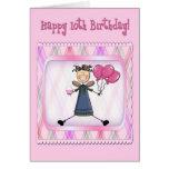 10th Birthday Pink Angel Card