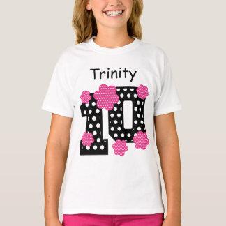 10th Birthday Polka Dots Custom Name V06 T-Shirt