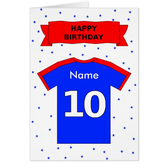 10th birthday red blue t-shirt add a name
