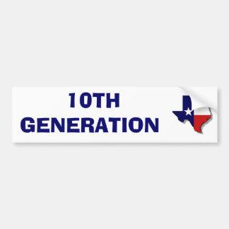 10TH GENERATION BUMPER STICKER