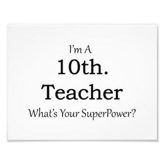 10th. Grade Teacher Photo Art