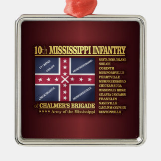 10th Mississippi Infantry (BA2) Christmas Ornament