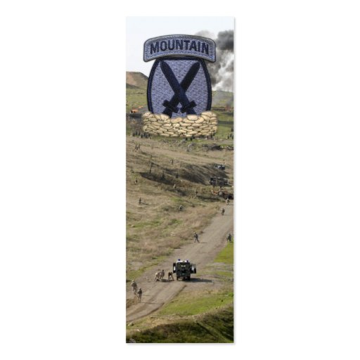 10th Mountain Division Afghanistan Bookmarkers Business Card Templates