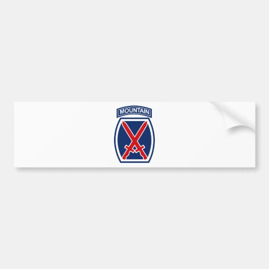 10th Mountain Division Bumper Sticker