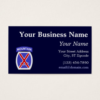 10th Mountain Division Business Card