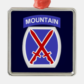 10th Mountain Division Christmas Ornament