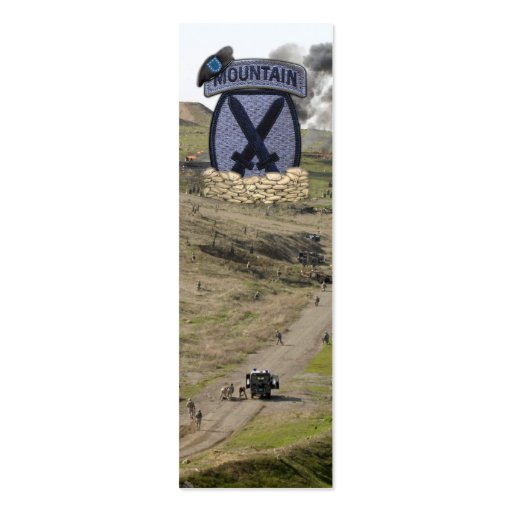 10th Mountain Division Fort Drum Patch Bookmarkers Business Cards