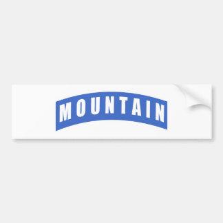 10th Mountain Division - Mountain Tab Bumper Sticker