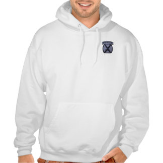 10th mountain division patch hooded sweat shirt