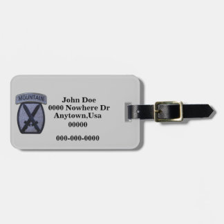 10th mountain division patch luggage tag