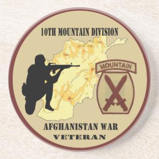 """10th Mountain Division Veteran"" Military Coaster"