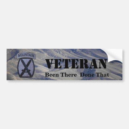 10th mountain division veterans bumper sticker