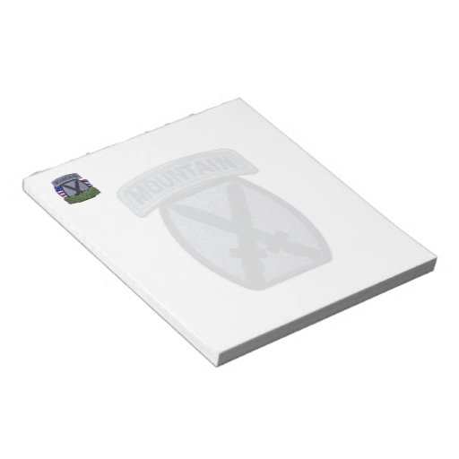 10th mountain division veterans patch Notepad