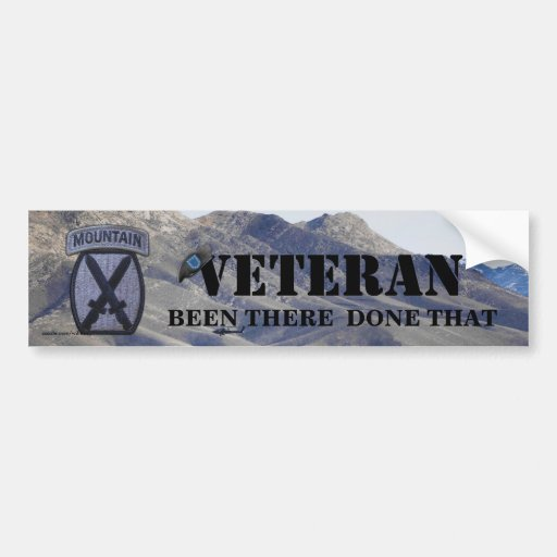 10th mountain division vets patch bumper sticker