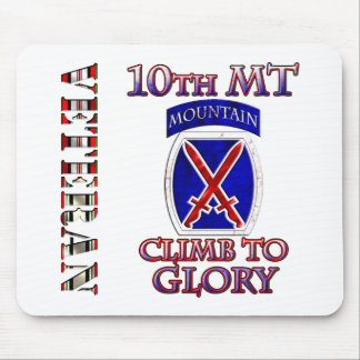 10th Mountain OEF OIF Veteran Mouse Pad