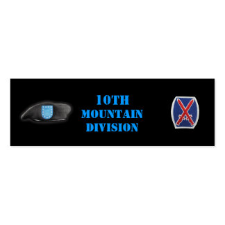 10th mountain veterans vets son mom bookmarkers business cards