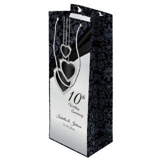 10th Onyx Wedding Anniversary - Wine Wine Gift Bag