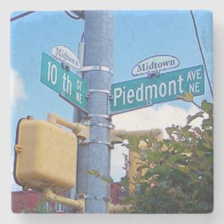 10th Piedmont Midtown, Atlanta Marble Coasters Stone Coaster