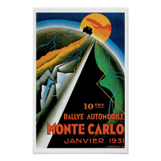 10th Rallye Automobile de Monte Carlo Print