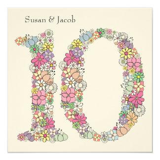 10th Tenth Wedding Anniversary Custom Invitation