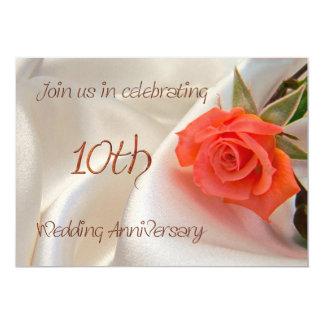 10th wedding anniverary party invitation