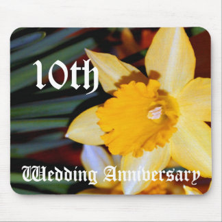 10th wedding anniversary - Daffodil Mouse Mat
