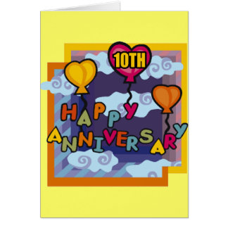10th Wedding Anniversary Gifts Greeting Card