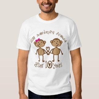 10th Wedding Anniversary Gifts Tee Shirts