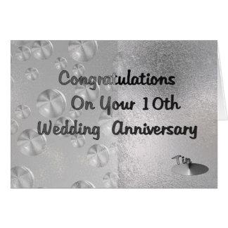 10th Wedding Anniversary Greeting Card