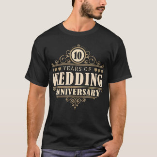 10th Wedding Anniversary (Husband) T-Shirt