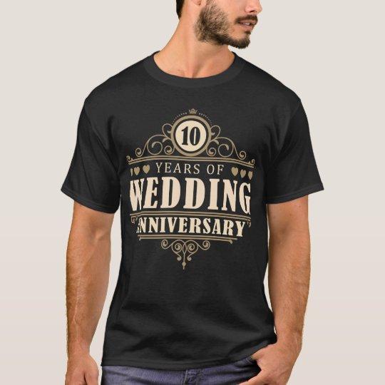 10th Wedding Anniversary (Husband) T-Shirt