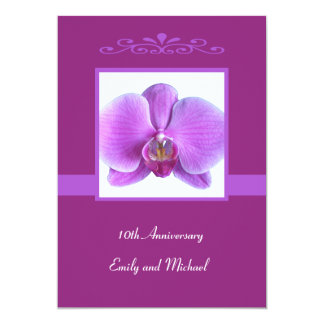 10th Wedding Anniversary Invitation Orchid