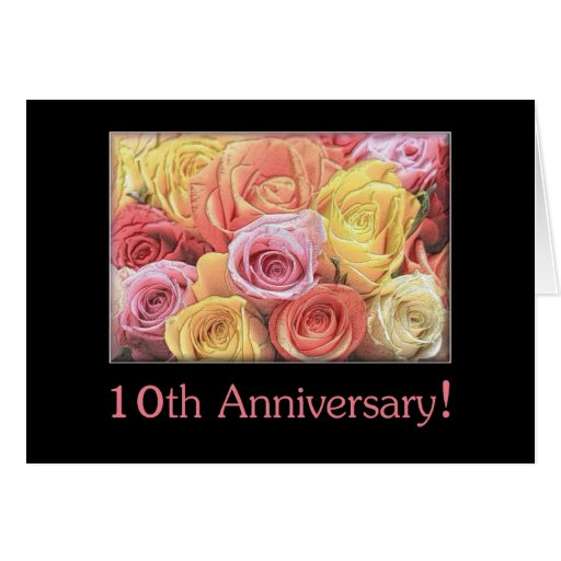 Happy 10th Wedding Anniversary Cards Photo Card Templates
