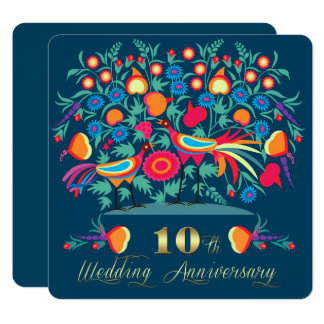 10th Wedding Anniversary Party Invitations