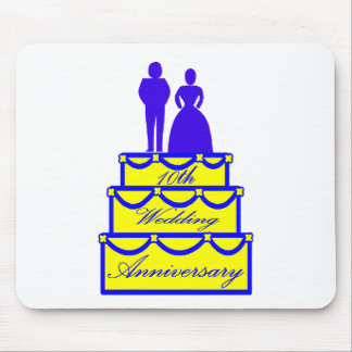 10th wedding anniversary t mouse pad