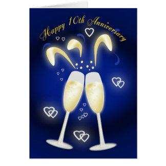 10th Wedding Anniversary Tin Wedding Cards