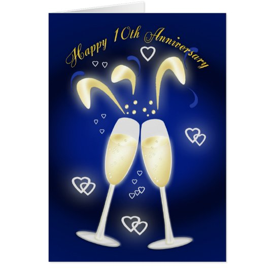 10th Wedding Anniversary Tin Wedding Card
