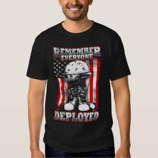 10tshirts.com RF2 Remember Everyone Deployed Tee Shirt
