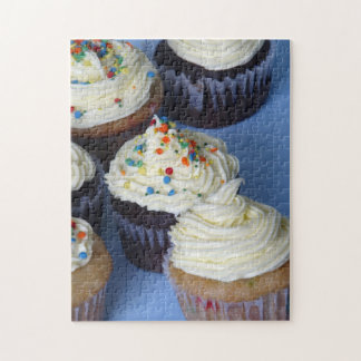 10x14 Photo Puzzle Cupcakes on blue background