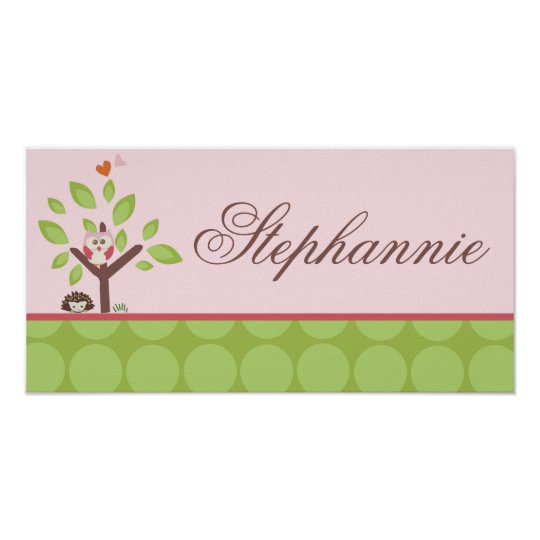 10x20 Name Wall Art Love and Nature Girl