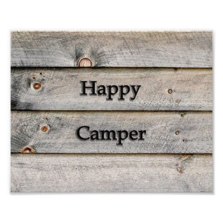 10x8 Happy Camper Photo Print