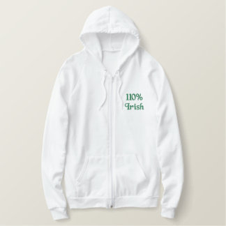 110% Irish Embroidered Hoodie