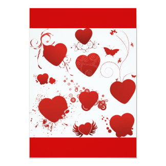 110 red heart shapes swirls wings butterflies custom announcements