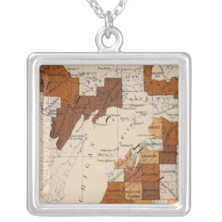 110 Typhoid fever Michigan Silver Plated Necklace