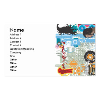 1111, Name, Address 1, Address 2, Contact 1, Co... Pack Of Standard Business Cards