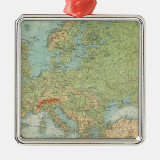 1112 European Physical Silver-Colored Square Decoration