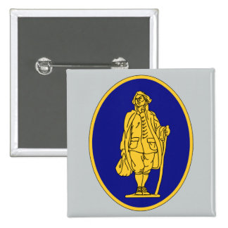 111th Infantry Regiment 2 Inch Square Button