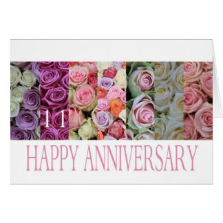 111th Wedding Anniversary Card pastel roses