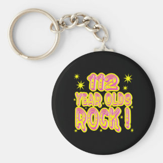 112 Year Olds Rock! (Pink) Keychain